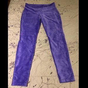 Purple corduroy tights / leggings by HUE